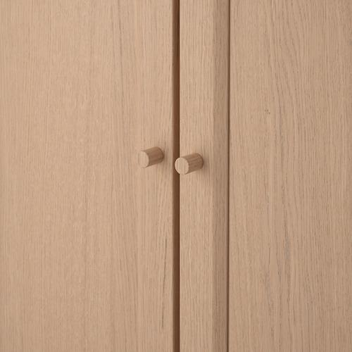 BILLY/OXBERG rak buku dgn pintu