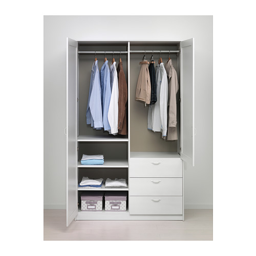 MUSKEN lemari pakaian 2 pintu+3 laci