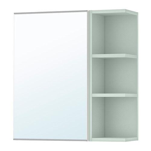 LILLÅNGEN kabinet cermin 1 pintu/1 unit ujung