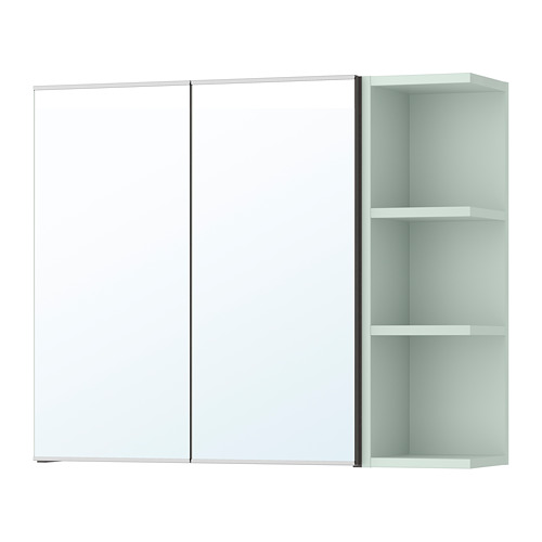 LILLÅNGEN kabinet cermin 2 pintu/1 unit ujung