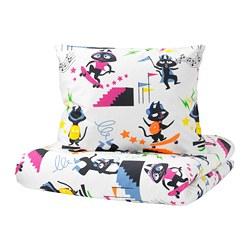 LATTJO - Sarung quilt dan sarung bantal, kucing/aneka warna