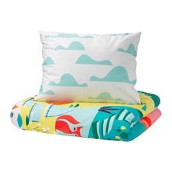 LATTJO - Sarung quilt dan sarung bantal, kebun/aneka warna