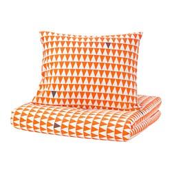STILLSAMT - Sarung quilt dan sarung bantal, oranye muda