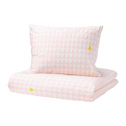 STILLSAMT - Quilt cover and pillowcase, light pink
