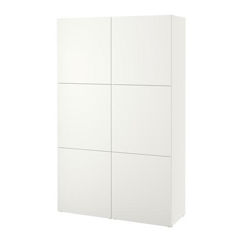 BESTÅ - kombinasi penyimpanan dengan pintu, putih/Lappviken putih, 120x42x193 cm | IKEA Indonesia - PE535038_S4