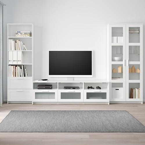 BRIMNES kombinasi penyimpanan TV/pintu kaca