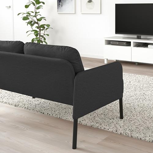 GLOSTAD - sofa 2 dudukan, Knisa abu-abu tua   IKEA Indonesia - PE800737_S4