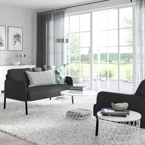 GLOSTAD - sofa 2 dudukan, Knisa abu-abu tua   IKEA Indonesia - PE800738_S4