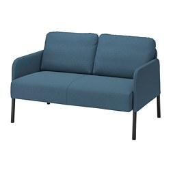 GLOSTAD - Sofa 2 dudukan, Knisa biru medium