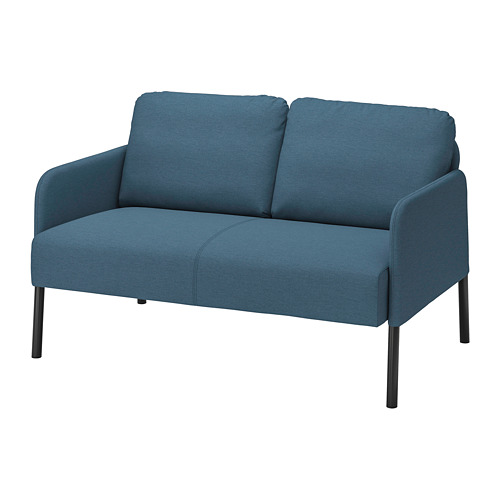 GLOSTAD - sofa 2 dudukan, Knisa biru medium | IKEA Indonesia - PE800740_S4