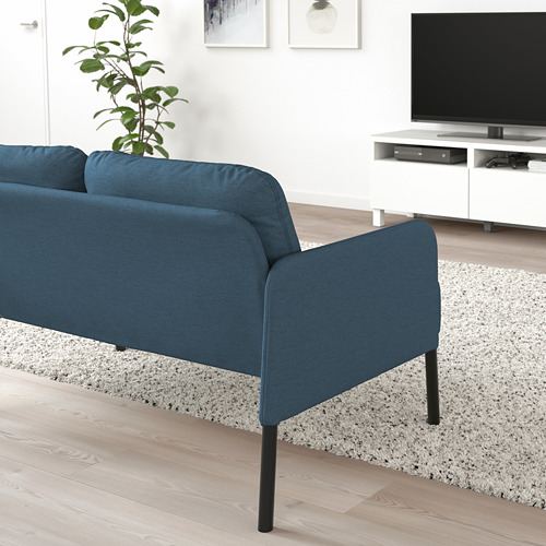 GLOSTAD - sofa 2 dudukan, Knisa biru medium | IKEA Indonesia - PE800741_S4