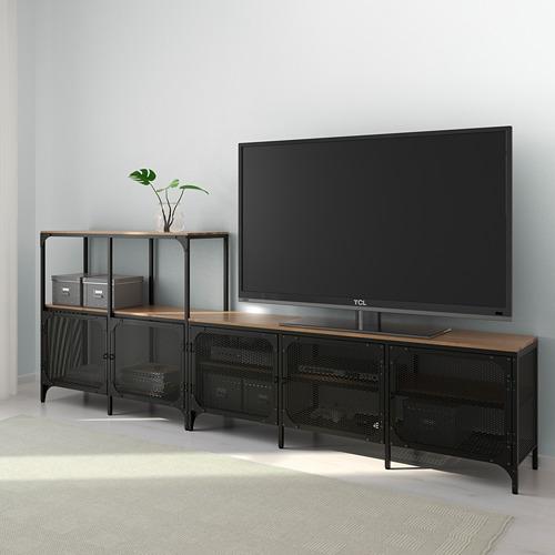 FJÄLLBO - kombinasi penyimpanan TV, hitam, 250x36x95 cm | IKEA Indonesia - PE616411_S4