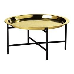 LJUVARE - Meja baki, hitam/warna emas, 65x32 cm