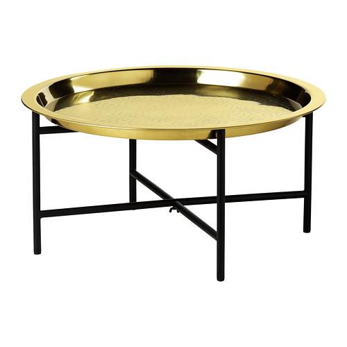 LJUVARE - meja baki, hitam/warna emas, 65x32 cm   IKEA Indonesia - PE800875_S4