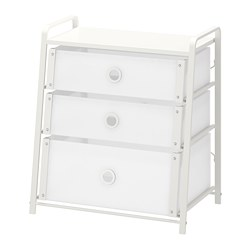 LOTE - Chest of 3 drawers, white