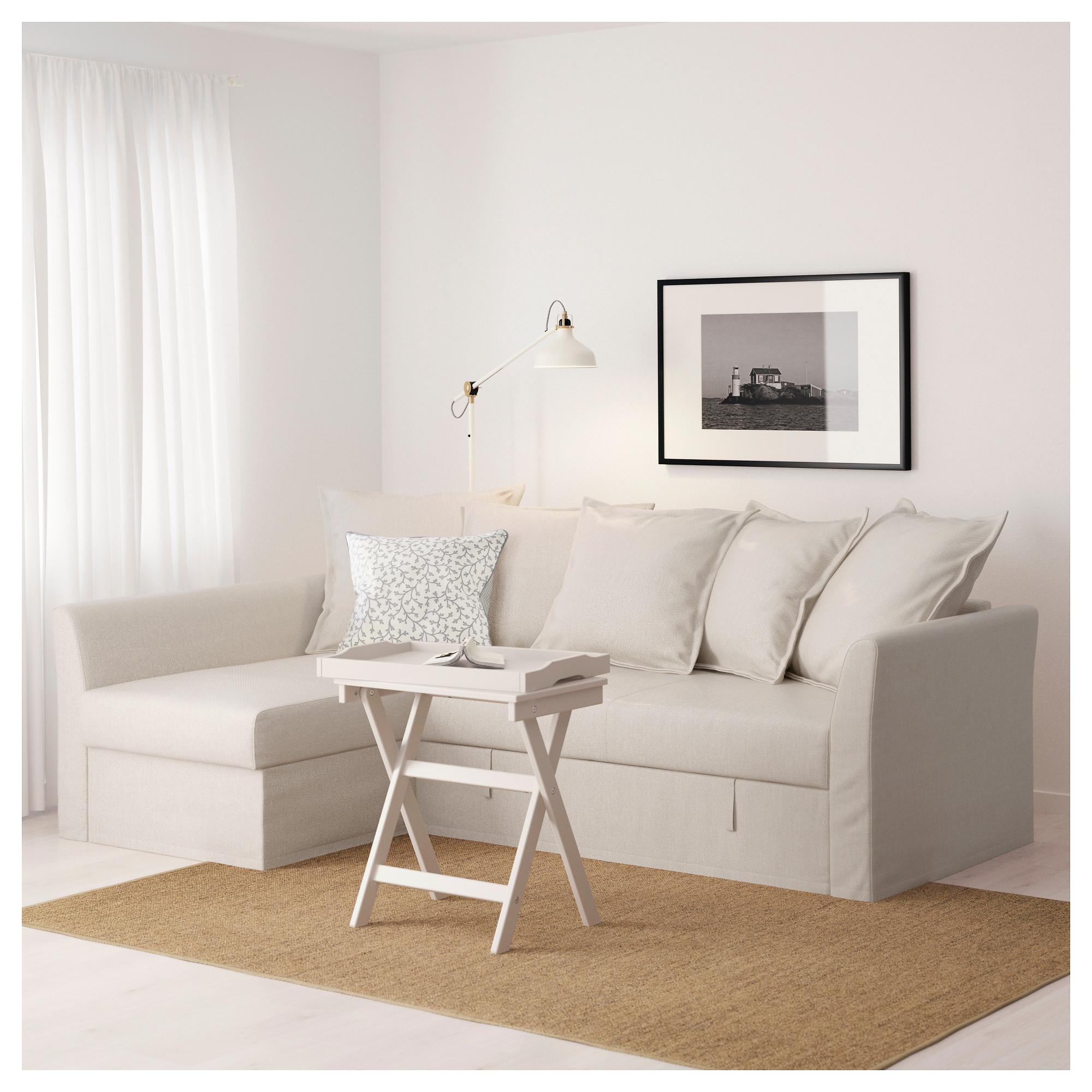 holmsund corner sofabed, nordvalla beige  ikea indonesia