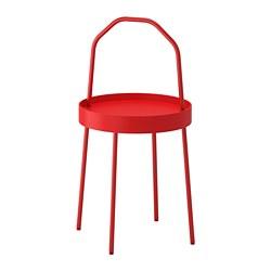 BURVIK - Meja samping, merah