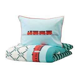 KÄPPHÄST - Sarung quilt dan sarung bantal, kain tampal seribu/mainan