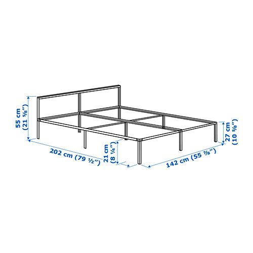 GRIMSBU - rangka tempat tidur, abu-abu/Luröy, 160x200 cm | IKEA Indonesia - PE746979_S4