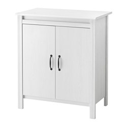 BRUSALI - Cabinet with doors, white