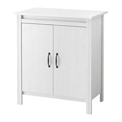 BRUSALI - BRUSALI, kabinet berpintu, putih, 80x93 cm