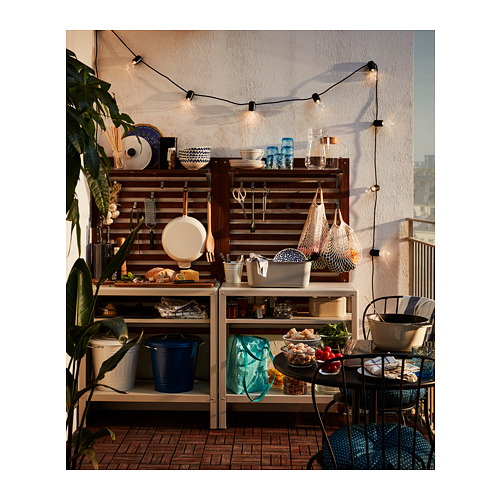 ÄPPLARÖ - panel dinding, luar ruang, diwarnai cokelat, 80x158 cm | IKEA Indonesia - PH160484_S4