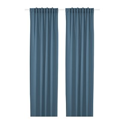 HILJA - HILJA, curtains, 1 pair, blue, 145x250 cm