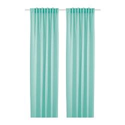 HILJA - Curtains, 1 pair, turquoise