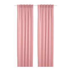 HILJA - Curtains, 1 pair, light red