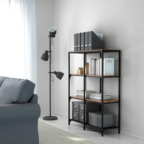 FJÄLLBO - shelving unit, black, 100x136 cm | IKEA Indonesia - PE616390_S4