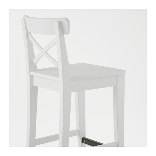 INGOLF kursi bar dengan sandaran