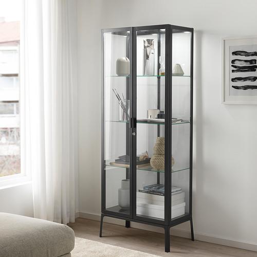MILSBO - kabinet pintu kaca, antrasit, 73x175 cm | IKEA Indonesia - PE704499_S4