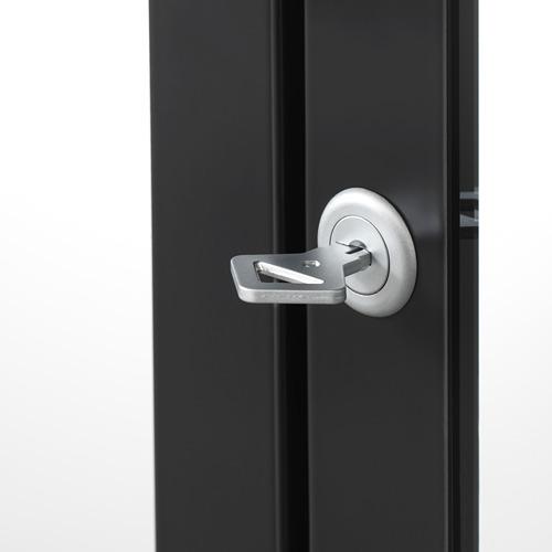 MILSBO - kabinet pintu kaca, antrasit, 73x175 cm | IKEA Indonesia - PE704500_S4