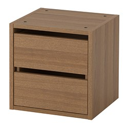 VADHOLMA - Drawer unit, brown/stained ash