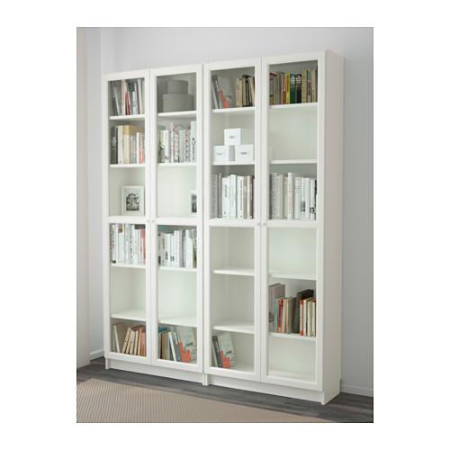 BILLY/OXBERG - rak buku, putih/kaca, 160x30x202 cm | IKEA Indonesia - PE600837_S4