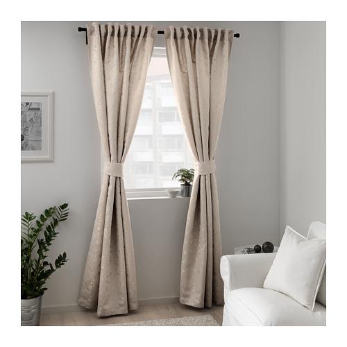 LISABRITT curtains with tie-backs, 1 pair