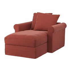 GRÖNLID - Chaise longue, Ljungen merah cerah
