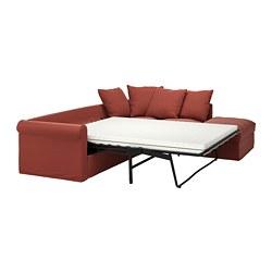 GRÖNLID - Sofa tmpt tdr sdt, 4 dudukan, dengan ujung terbuka/Ljungen merah cerah