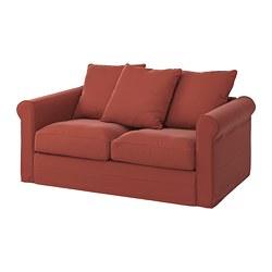 GRÖNLID - Sofa 2 dudukan, Ljungen merah cerah