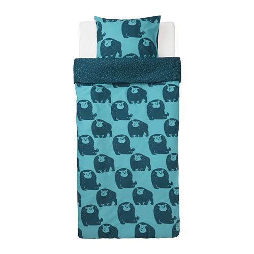 DJUNGELSKOG sarung quilt dan sarung bantal