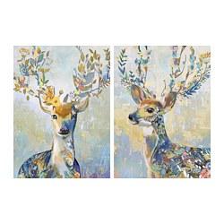 PJÄTTERYD - Gambar, rusa warna-warni