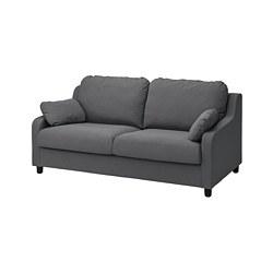 VINLIDEN - 3-seat sofa, Hakebo dark grey
