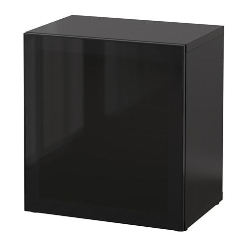 BESTÅ unit rak dengan pintu kaca
