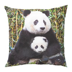 URSKOG - Cushion, Panda multicolour