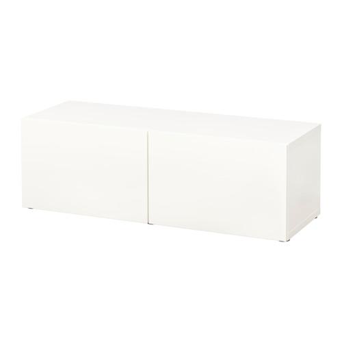 BESTÅ - unit rak dengan pintu, putih/Lappviken putih, 120x42x38 cm | IKEA Indonesia - PE537135_S4