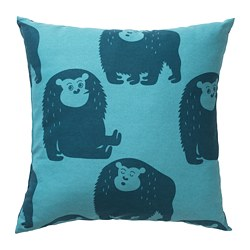 DJUNGELSKOG - Cushion, monkey/blue