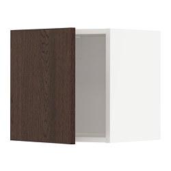 METOD - Kabinet dinding, putih/Sinarp cokelat, 40x37x40 cm