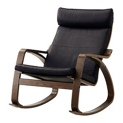 POÄNG - Rocking-chair, brown/Smidig black