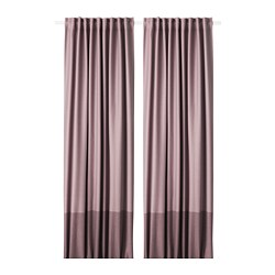 MARJUN - Room darkening curtains, 1 pair, lilac