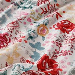 LUNDSLOK - Sarung quilt dan 4 sarung bantal, aneka warna